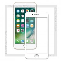 Защитное стекло Perfeo для Apple iPhone 7, 2.5D Full, белое, 0.33мм (5065)