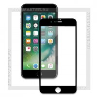 Защитное стекло Perfeo для Apple iPhone 8+, 2.5D Full, черное, 0.33мм (5327)