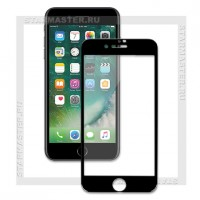 Защитное стекло Perfeo для Apple iPhone 8, 2.5D Full, черное, 0.33мм (5325)