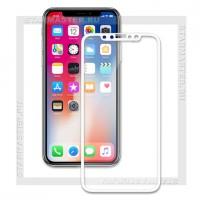 Защитное стекло Perfeo для Apple iPhone X, 3D, белое, 0.2мм (5323)
