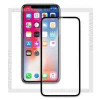 Защитное стекло Perfeo для Apple iPhone X, 3D, черное, 0.2мм (5324)
