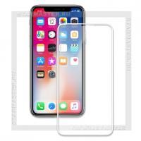 Защитное стекло Perfeo для Apple iPhone X, 2.5D Full, белое, 0.33мм (5330)