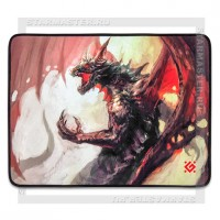Коврик для мыши DEFENDER Dragon Rage M 360x270x3 мм, ткань+резина игровой