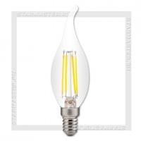 Светодиодная лампа Filament E14 7W 3000K, SmartBuy LED C37 Свеча на ветру