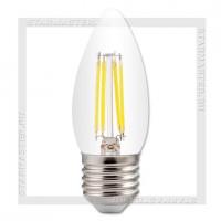 Светодиодная лампа Filament E27 7W 3000K, SmartBuy LED C37 220V