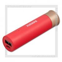 Аккумулятор портативный REMAX 2500 mAh Shell (патрон), USB, красный