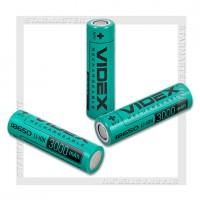 Аккумулятор 18650 3000mAh Videx Li-ion 3.7V, bulk 50, без защиты