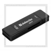 Картридер DEFENDER Multi Stick Type-C, USB2.0/microUSB/SD/TF