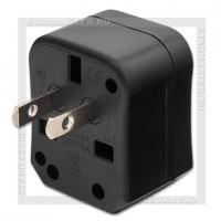 Сетевой адаптер универсальный 100-240V HOCO AC1, EU/US/AU/UK, черный