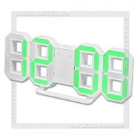 Часы-будильник Perfeo «LUMINOUS» LED, цифры 8х4,5 см, белый/зеленый