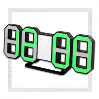 Часы-будильник Perfeo «LUMINOUS» LED, цифры 8х4,5 см, черный/зеленый