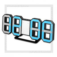 Часы-будильник Perfeo «LUMINOUS» LED, цифры 8х4,5 см, черный/синий