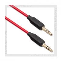 Кабель Audio Jack 3.5 мм (m) -- Jack 3.5 мм (m), 1м, HOCO UPA11, красный