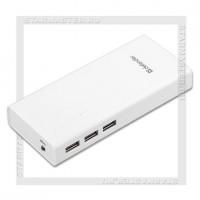 Аккумулятор портативный DEFENDER 10000 mAh Lavita E 3*USB, LED, белый