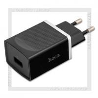 Зарядное устройство 220V -> USB Quick Charge 3.0 3A HOCO C42A, черный
