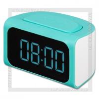 Часы-будильник REMAX RM-C05, LED, с зарядным устройством 4xUSB 3.1A, синий