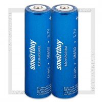 Аккумулятор 18650 2000mAh SmartBuy Li-ion 3.7V, Shrink/2, без защиты