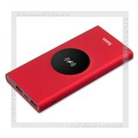 Аккумулятор портативный беспроводной 10000 mAh HOCO J37 Wireless, LED, красный