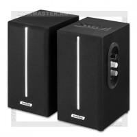 Акустическая система 2.0 SmartBuy GATE, 20Вт, BT, MP3+FM, МДФ, черный