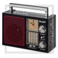 Радиоприемник BLAST BPR-912 с MP3, USB/microSD/SD, 220V/4xR20/аккумулятор, черный