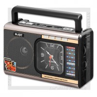 Радиоприемник BLAST BPR-1010 с MP3, USB/microSD/SD, Bluetooth, 220V/2xR20,черный