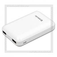 Аккумулятор портативный DEFENDER 10000 mAh ExtraLife 10000S, Li-pol, 2*USB,белый