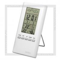 Часы-метеостанция Perfeo «METEO», дата, температура, влажность, белый