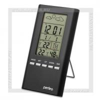Часы-метеостанция Perfeo «METEO», дата, температура, влажность, черный