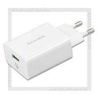 Зарядное устройство 220V -> USB Quick Charge 3.0 3A HOCO BF BA21A, белый
